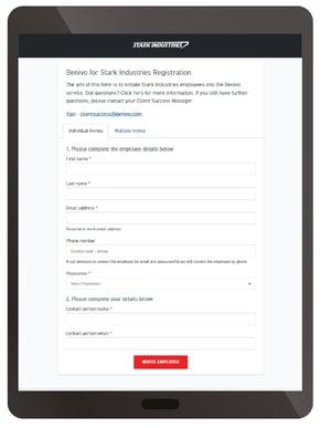 Initiating registrations ipad 1