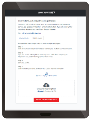 Initiating registrations ipad 2