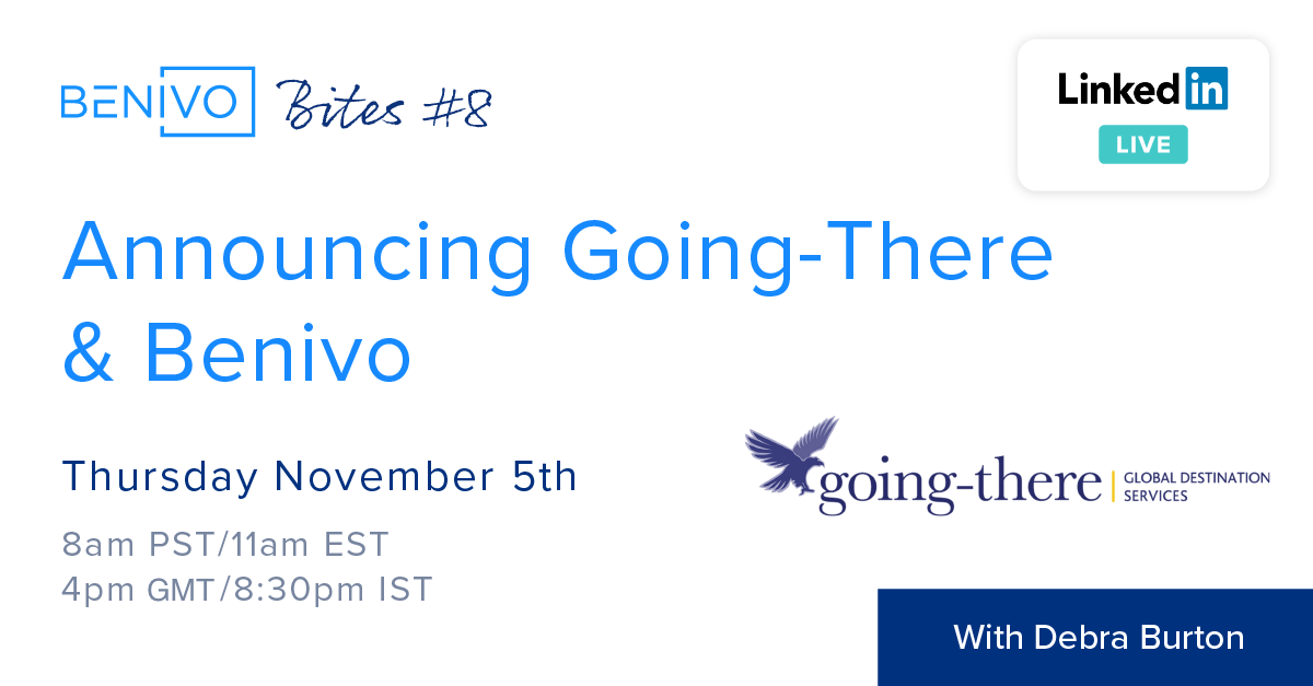 Announcing Going-Benivo - A new joint product by Going-there & Benivo