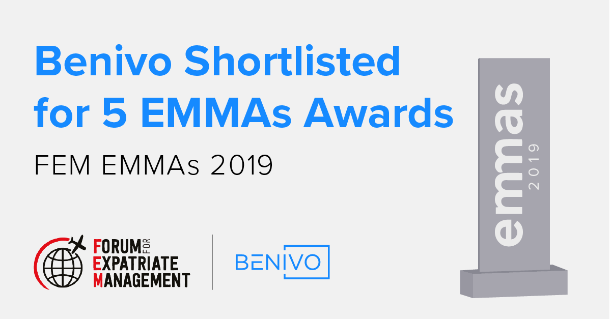 Benivo is nominated for 5 EMMAs at FEM EMEA 2019
