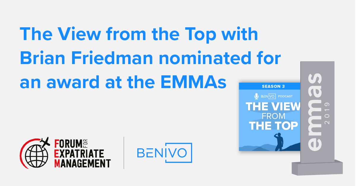 The View From the Top with Brian Friedman is nominated for an EMMA!
