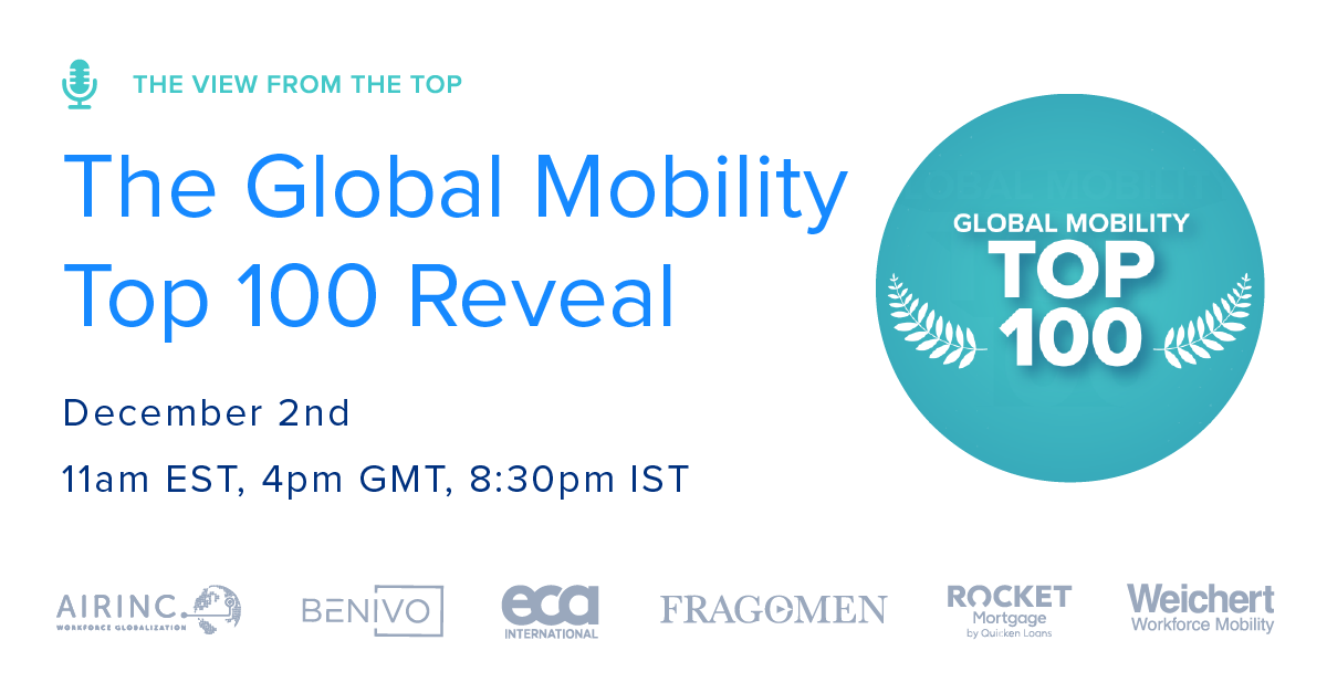 Show Notes & Recordings: The Global Mobility Top 100 Shows